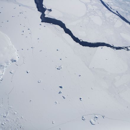 NASA released a new image showing Antarctica's melting iceberg