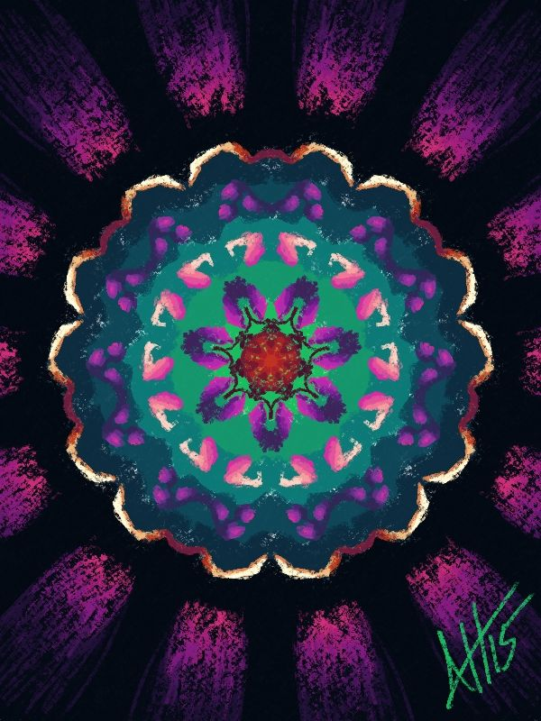 This was my first time using the kaleidoscope feature in Corel Painter.