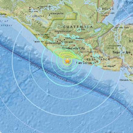 Magnitude 6.8 earthquake off of Guatemala's Pacific coast, USGS says