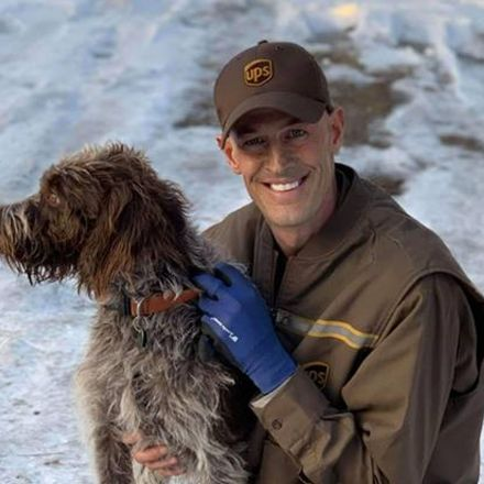 UPS driver saves dog from drowning in icy pond: 'She wasn't going to make it'