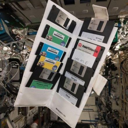 ISS astronaut finds NASA floppy disks in space
