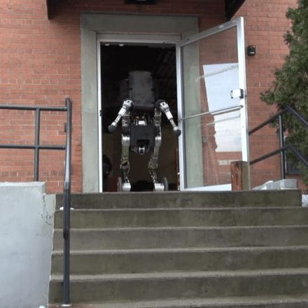 Boston Dynamics' newest robot is six feet tall, lifts 100 pounds, and jumps up to four feet