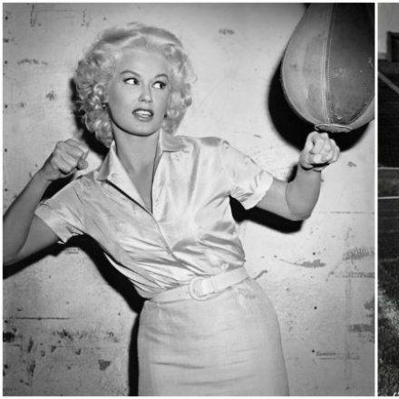 Atomic blonde: Blonde bombshell Mamie Van Doren looking cooler than we'll ever be