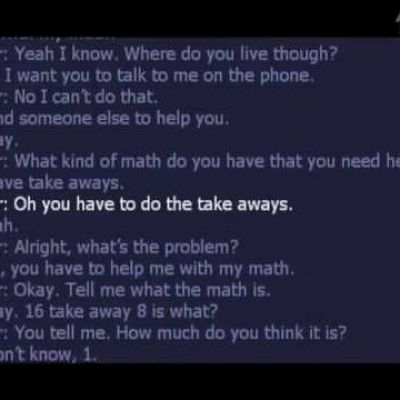 Kid calls 911 for help with math.