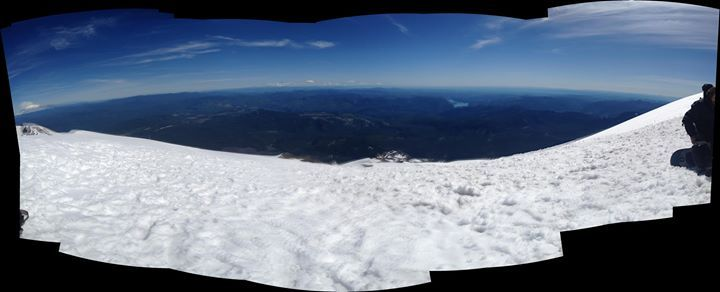 from the peak of Mount St. Helens in July.  visibility was so good we could see the ocean.