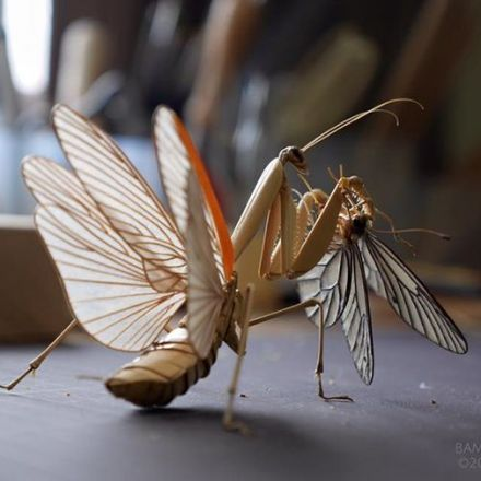 Incredibly lifelike insects crafted out of bamboo.