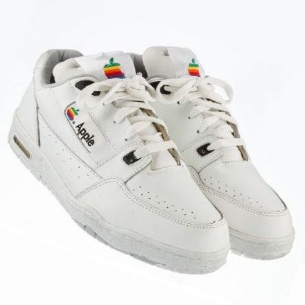 Apple computer sneakers, circa early 1990s, price $18,000