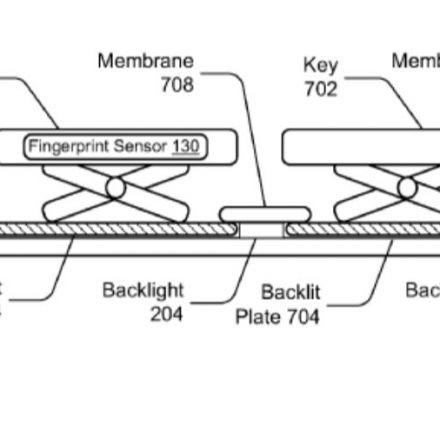 Microsoft wants to put fingerprint sensor in keyboard keys, files patent.