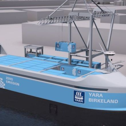 The world's first autonomous, electric and zero-emissions ship will set sail in 2018.