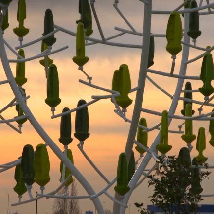Amazing wind tree sculpture.