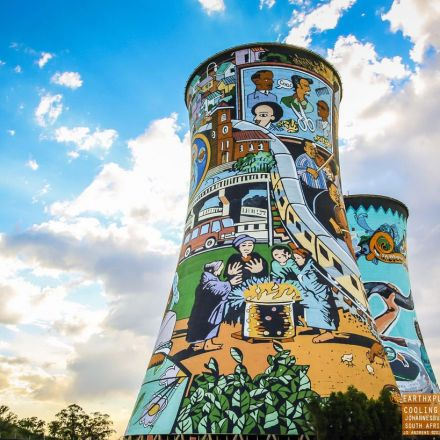 The Orlando cooling towers in Soweto South Africa.