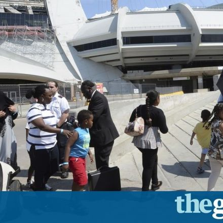 Montreal turns stadium into welcome centre for asylum seekers from US