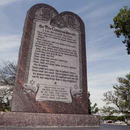 Ten Commandments monument must be removed from grounds of state Capitol, the Oklahoma Supreme Court ruled Tuesday