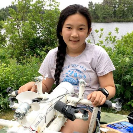 12-Year-Old Girl Invents Plastic-Detecting Robot to Save Our Oceans