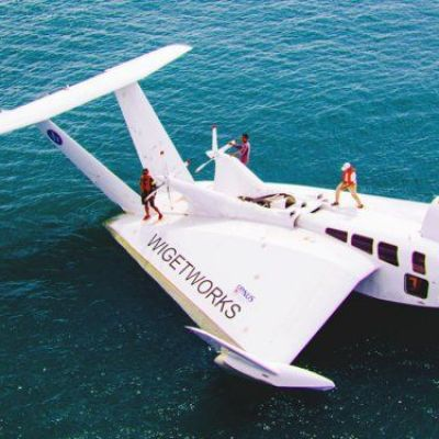 This sea-craft looks like a plane, has a race-car engine, and docks like a boat