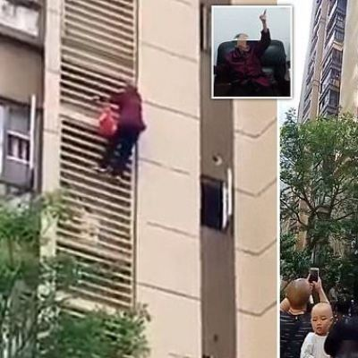 Grandmother with Alzheimer's climbs down the outside of a tower block