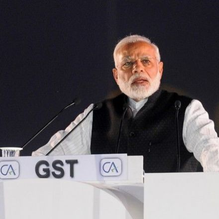 "Narendra Modi Walked Off The Stage To Darth Vader's ""Imperial March"" After A Speech About GST"
