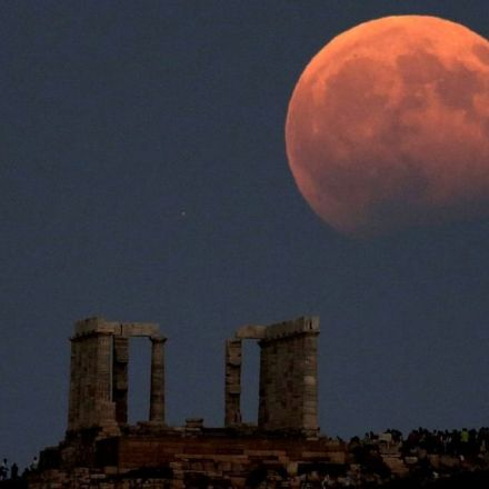 Red Moon rising: Photos from the partial lunar eclipse