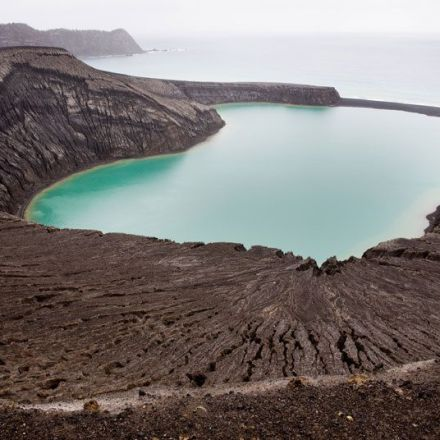 Volcanic island so new it doesn't have a name, in pictures