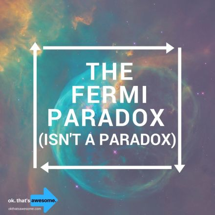 The Fermi Paradox (Isn't a Paradox)