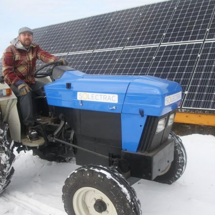 This Uxbridge farmer is ditching diesel for a solar-powered tractor