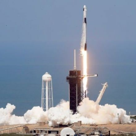 NASA astronauts blast off into space on SpaceX rocket