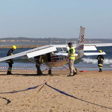 Sunbathers killed as plane makes emergency landing on Portugal beach