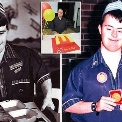 McDonald's worker with Down syndrome celebrates 30 YEARS in the job