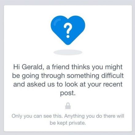 Facebook Will Now Reach Out To Users Who Their Friends Think Are Suicidal