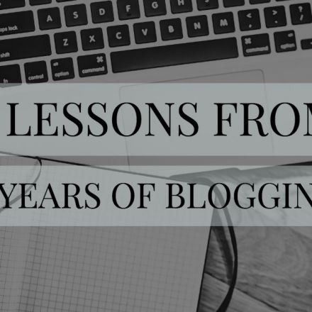 4 Lessons from 4 Years of Blogging