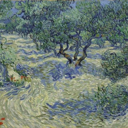 A Very Fancy Grasshopper Was Found in the Paint of a Van Gogh Masterpiece
