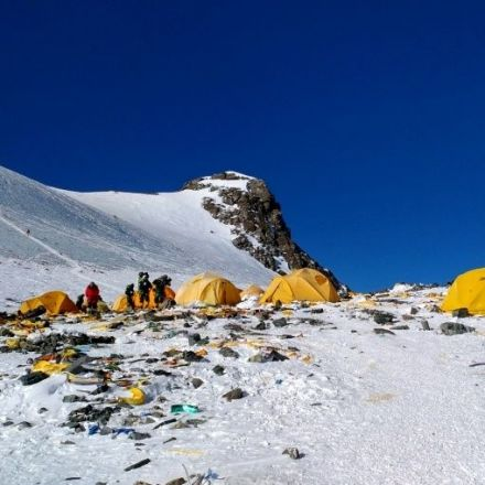 Mount Everest, the high-altitude rubbish dump