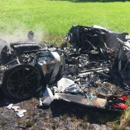 Ferrari driver writes off new car on M1 in Barnsley