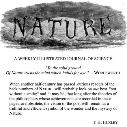 First Issue of Nature - Nov 4 1869
