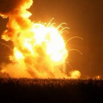 Unmanned Orbital Sciences Antares rocket explodes on liftoff