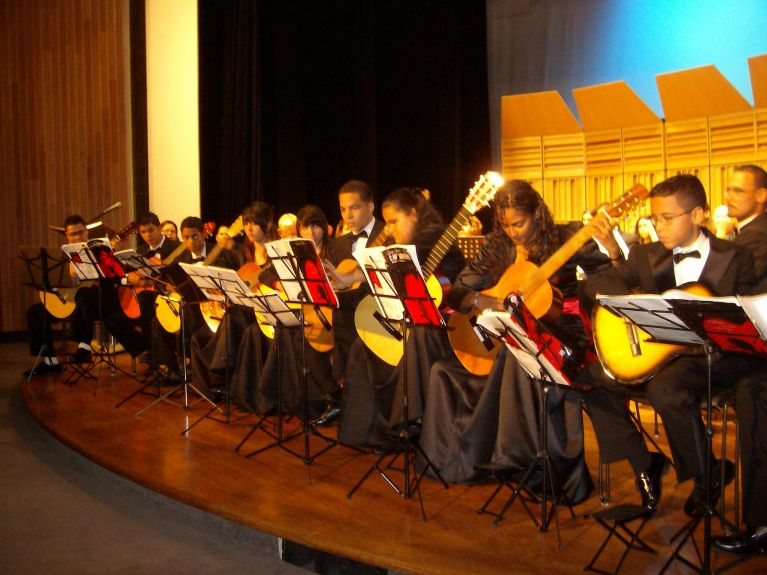 Students performance at the Bellas Artes Concert Hall