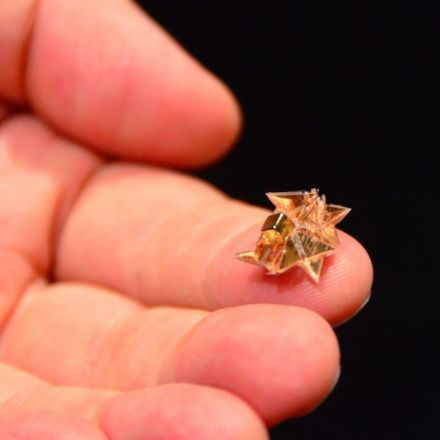 Self-folding robot walks, swims, climbs, dissolves