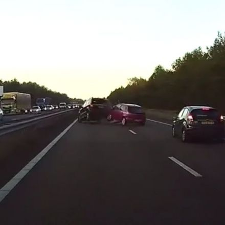 Tesla Autopilot's new radar technology predicts an accident caught on dashcam a second later