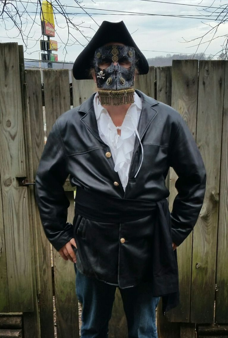 Steampunk Black Beards Coat.