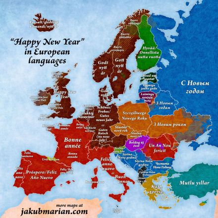 'Happy New Year' in European languages