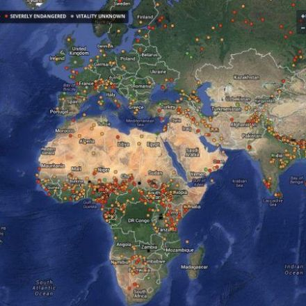This Map Shows all the Disappearing Languages in the World
