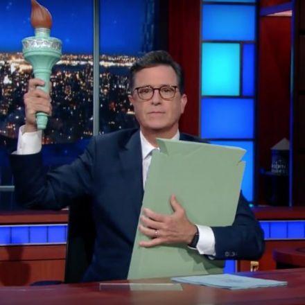 Colbert rewrites Statue of Liberty poem for Trump era
