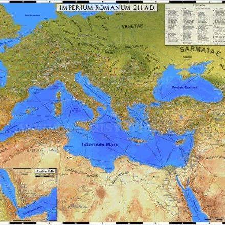 An Incredibly Detailed Map of the Roman Empire At Its Height in 211AD