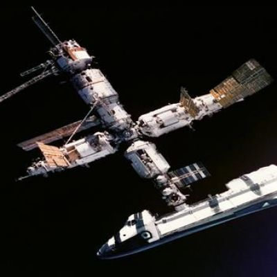 29th June 1995 - U.S. space shuttle docks with Russian space station