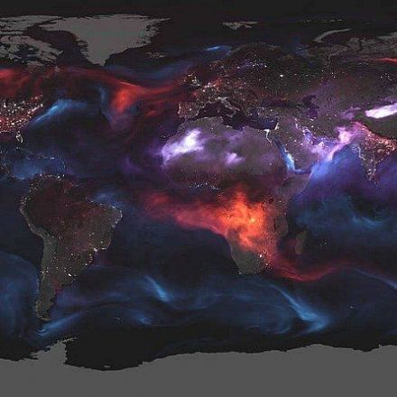 NASA releases map showing the amount of aerosol particles created by the fires