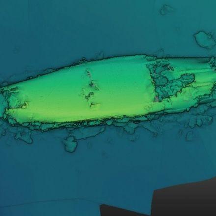 First echosound image of Scapa Flow battleship wreck