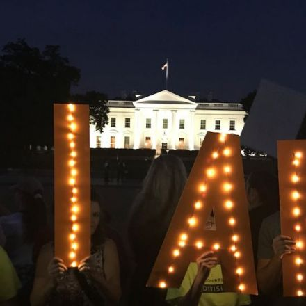 Protests erupt outside of White House as Trump returns from Putin summit