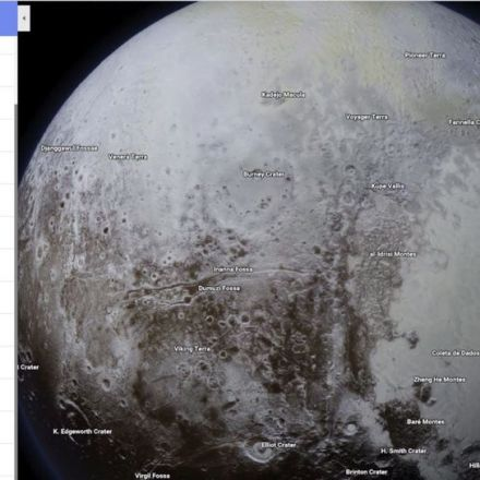 Space out with planets in Google Maps