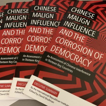How China's 'malign influence' is corroding democracies