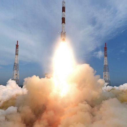 India's space agency launches 8 satellites into 2 orbits
